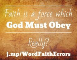 Word-Faith Errors